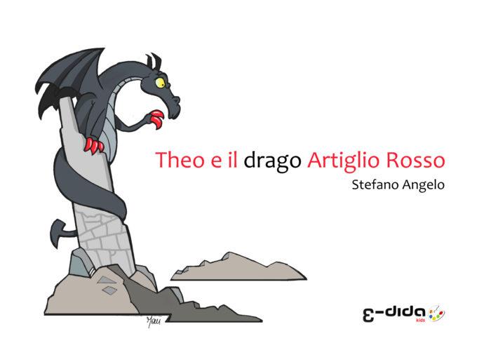 Copertina del libro per bambini Theo e il drago Artiglio Rosso