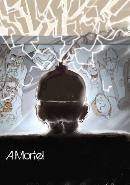 A morte, illustrazione di Mauro Moretti