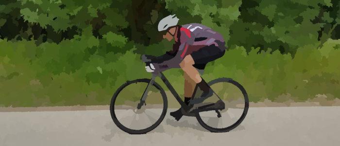 Stefano in bici - acquerello