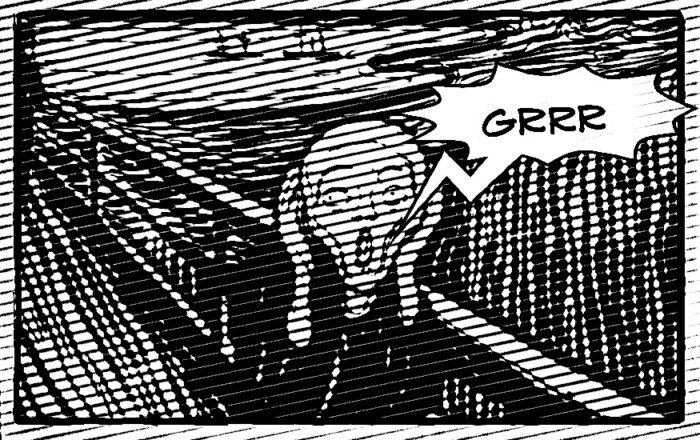 """L'urlo di Munch con un """"grrr"""""""