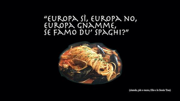 Piatto di spaghetti con frutti di mare