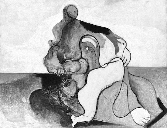 Max Ernst – Il bacio – 1927 - dadaista - in bianco e nero