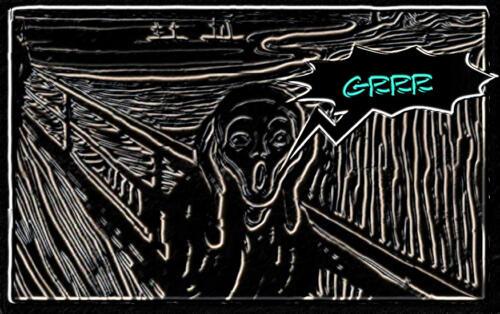 """L' Urlo di Munch con un """"grrr"""""""